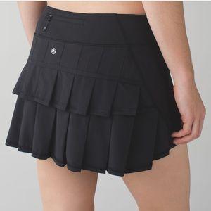 NWT Lululemon Pace Setter Skirt Skort - Black